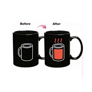 Factory sells 300ml ceramic coffee cup with high quality magic color changing mug