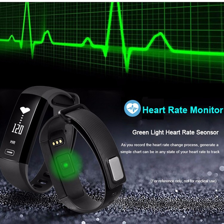 Wearfit 0.96 touch OLED Replacement Wristband Dynamic Heart Rate Monitor Sport Fitness Bracelet