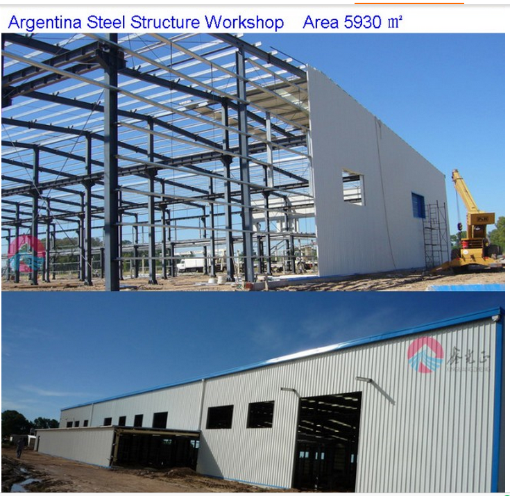 Construction Steel Structure Workshop Plan