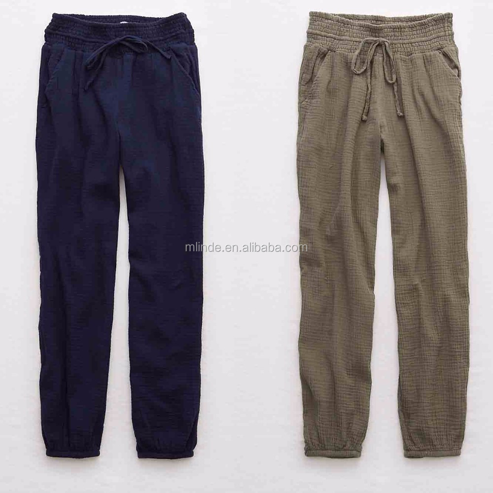Indian Harem Pant Wholesale Women Fashion Plain Dyed Custom Made in China  Trousers