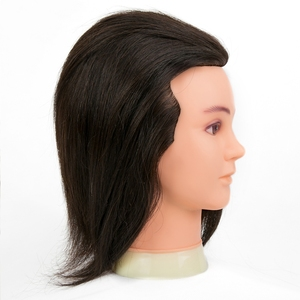 Wholesale Male Human gold Hair Mannequin Head, Hair Styling Cutting Practice Training Head