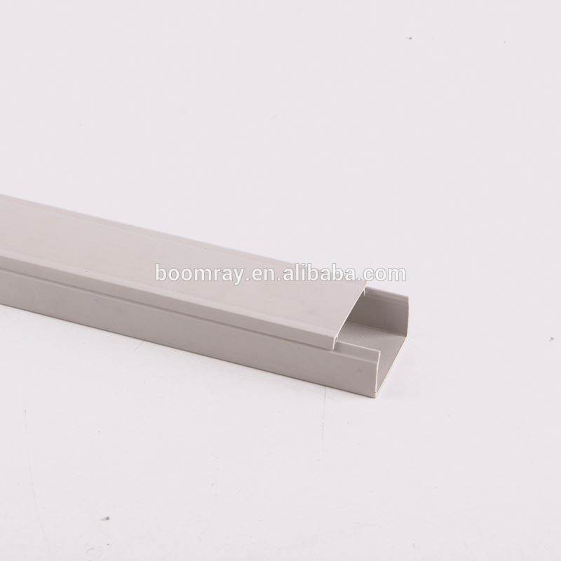 Latching Surface Solid Wall and Ceiling Raceway Solution transparent cable ducts White