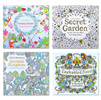 Mystery Coloring Books For Adult Children Relieve Stress Painting Drawing Art Book Gifts