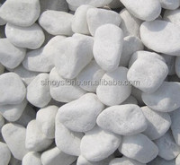 white gravel pebble decorative garden polishing stone