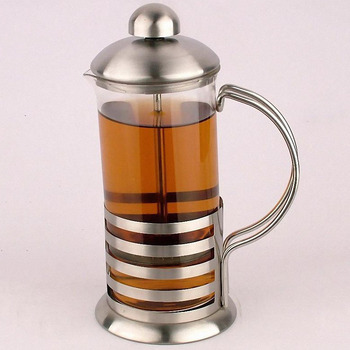 French Press Stainless Steel Maker Heat-resistant Pyrex Glass French Coffee Press/Coffee Plunger