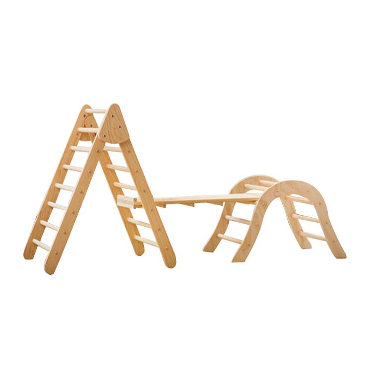 Montessori Plegable Pikler: Triángulo Escalada Marco De Madera Bebé ...