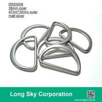 (#DRZ0009/38mm inner) matt silver d ring buckle for strap belt