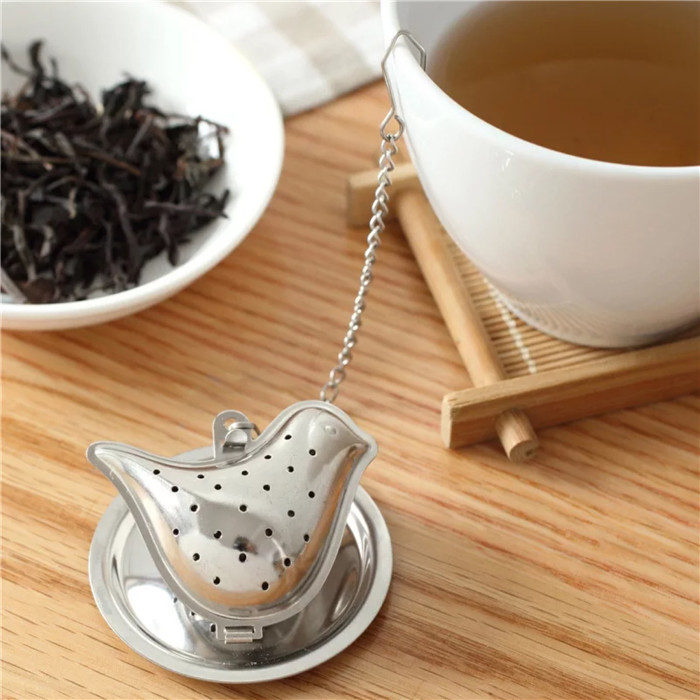 2019 promotion high quality stainless steel bird shape tea infuser, tea strainer