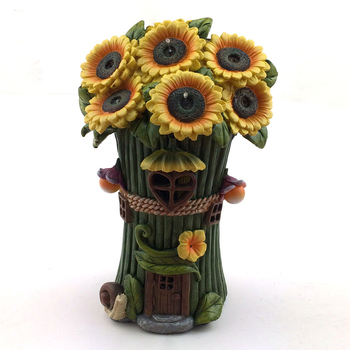 Resin Crafts Fairy Garden Sunflower Fairy House With Solar - Buy Fairy  House,Resin Fairy House,Fairy Garden House Product on Alibaba com