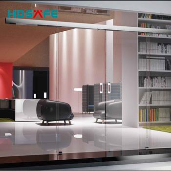 Large Modern Design Stainless Steel Frameless Sliding Glass Door