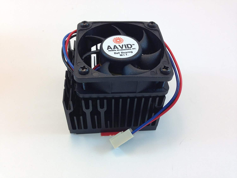AAVID CPU COOLING FAN W/HEATSINK, 50mm Sq. FAN, 55mm X 55mm X 50mm Heatsink & Fan, TX3 3PIN CONNECTOR