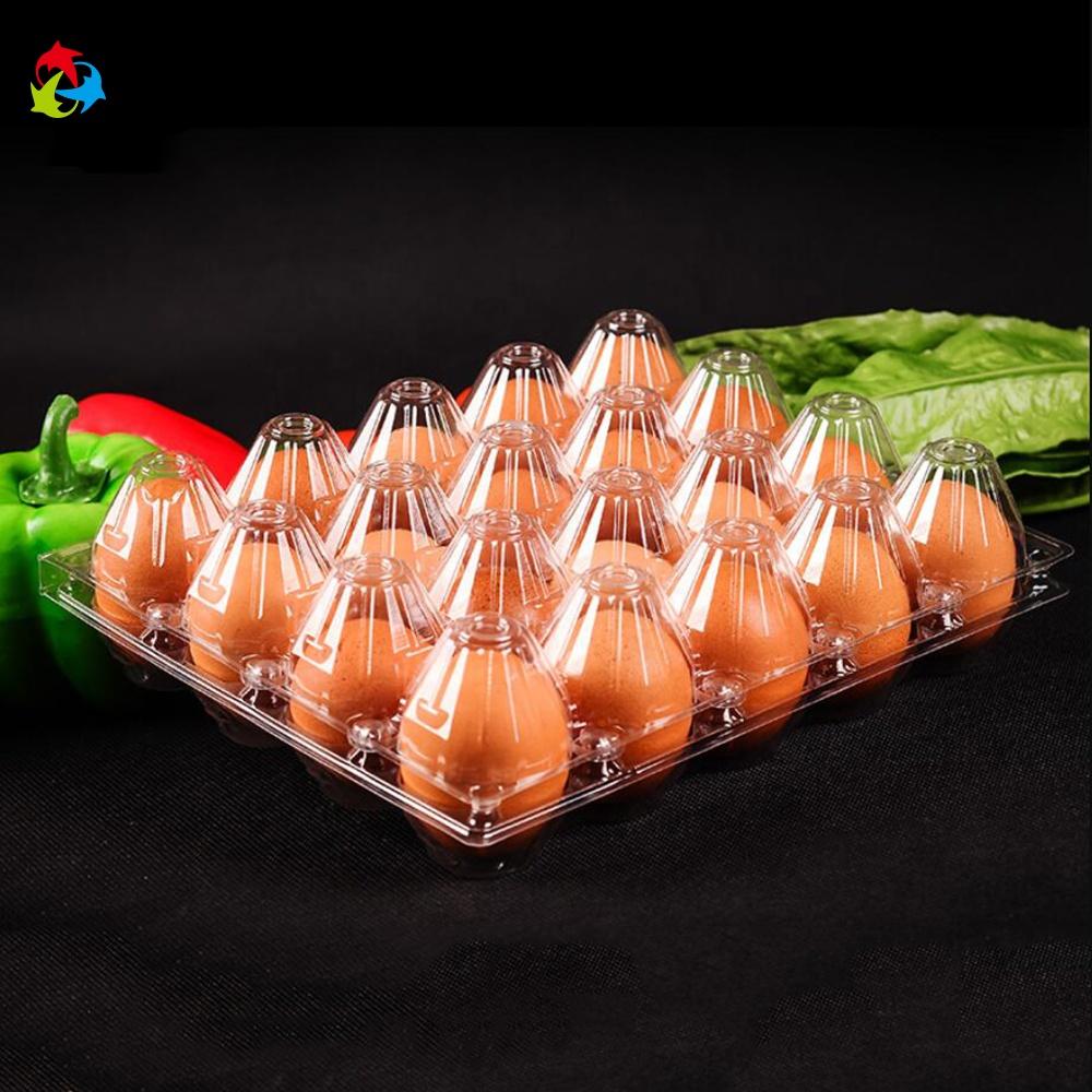 Kundengebundene hochwertige transparente Blisterplastik 20pcs Wachteleier, die Plastikhuhn / Massenei-Kiste verpacken