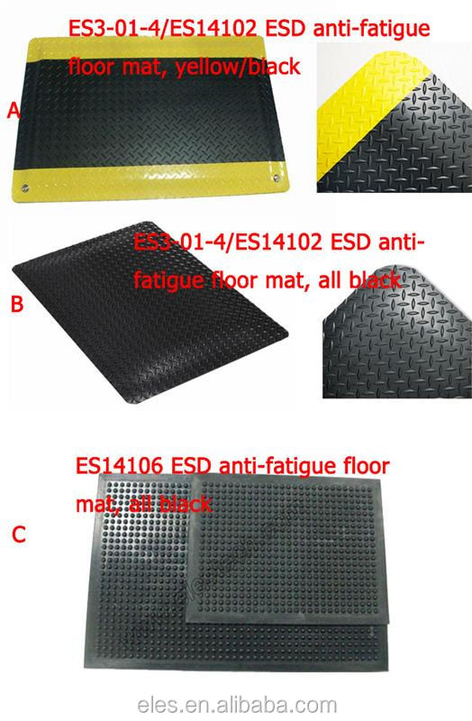 3 Layers 15mm Thick PVC Anti-static ESD Anti-fatigue Mat