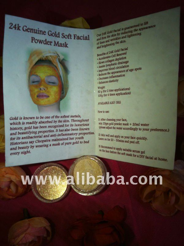 24K GENUINE GOLD SOFT POWDER PASTE MASK