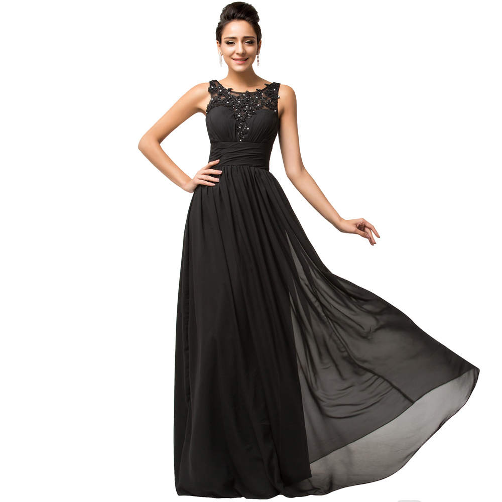 Buy Real Photo Grace Karin Black Evening Dress Long Elegant Evening Gown  Chiffon Mother Of The Bride Dresses For Plus Size 7584 in Cheap Price on m.alibaba.  ... 5ed43fb27