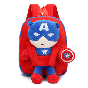 Best selling Removable the avengers cartoon kids plush backpacks