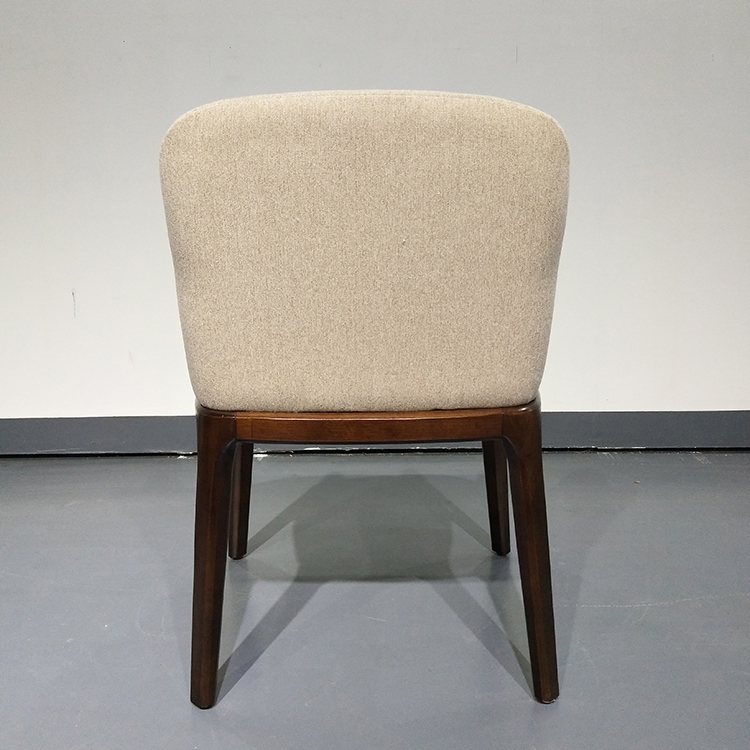 White fabric Coffee Chairs Furniture Wholesale  Hight quality cafe chair dining room garden table chair simple wood chair