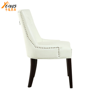 Zhuoyi modern handle back luxury upholstered dining chair
