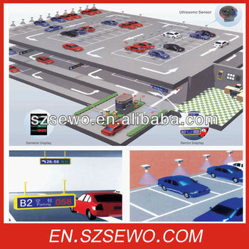 Ce Approved Low Installation Cost Smart Parking Guidance System With  Ultrasonic Sensor - Buy Smart Parking Guidance System,Parking Lot Guidance