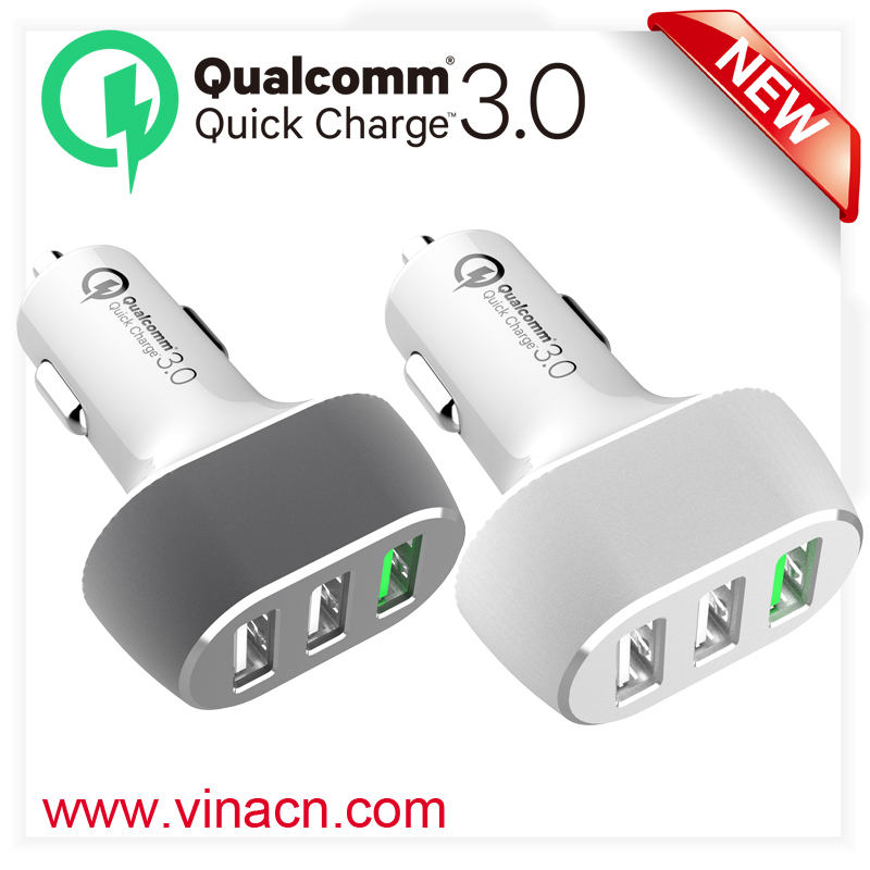 QC3.0 travel usb outlet travel car adapter 5v usb 5 port the charger for iphone charger QC 3.0
