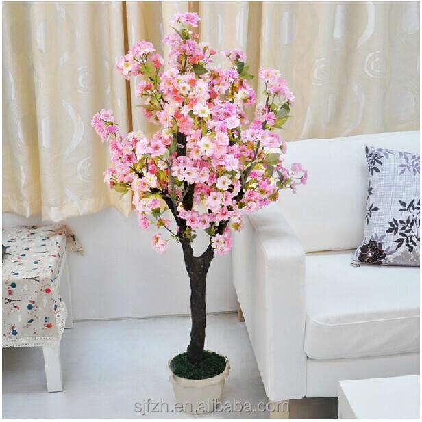 mini flores artificiales Árbol artificial peach blossom Árbol en