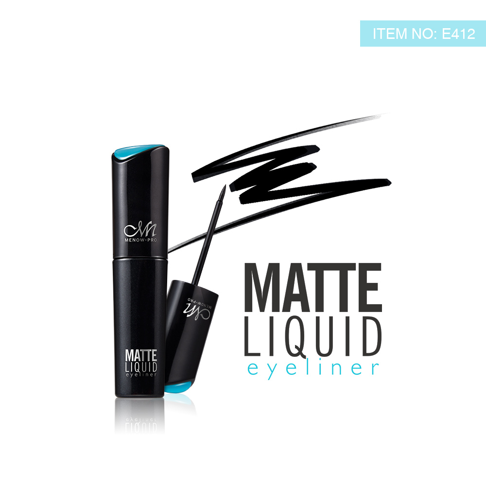 Menow E412 Waterproof and Long-wear matt Liquid Eyeliner