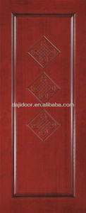 Solid Red Meranti Wood Doors With Knots DJ-S320
