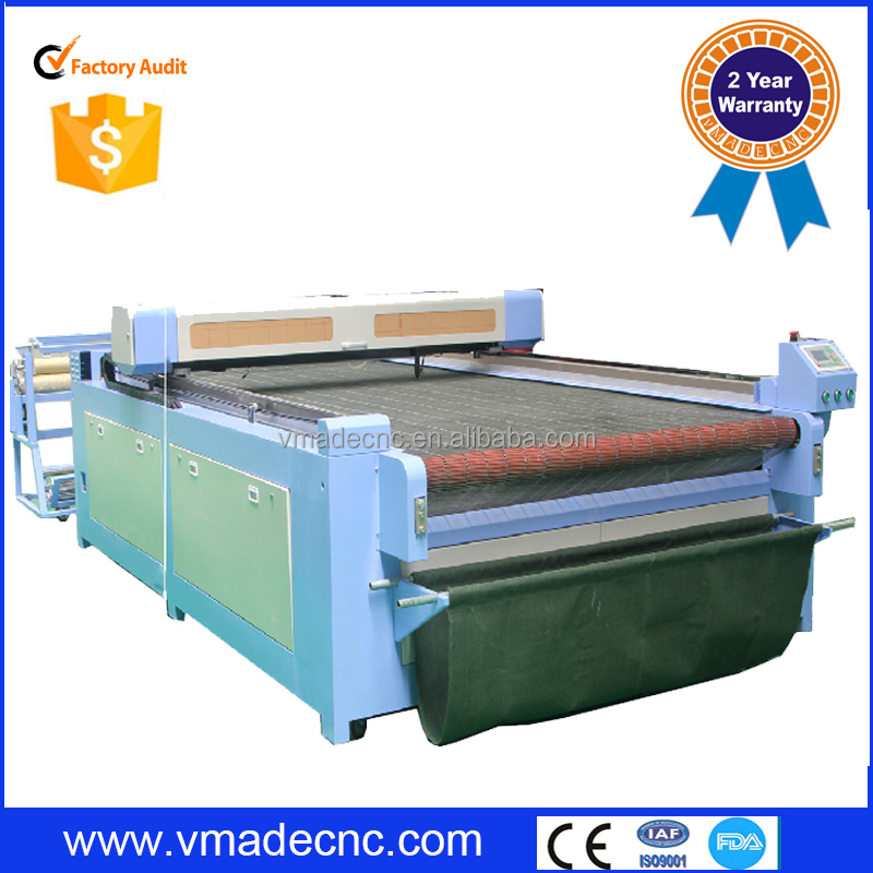 newest 1325 auto feeding cloth laser cutting machine