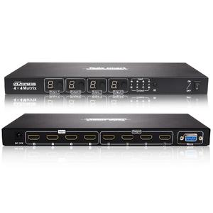 Tesla Smart HDMI Matrix 4X4 Video Switcher 4 in 4 out Support 4k x 2k 3D full HD 1080P