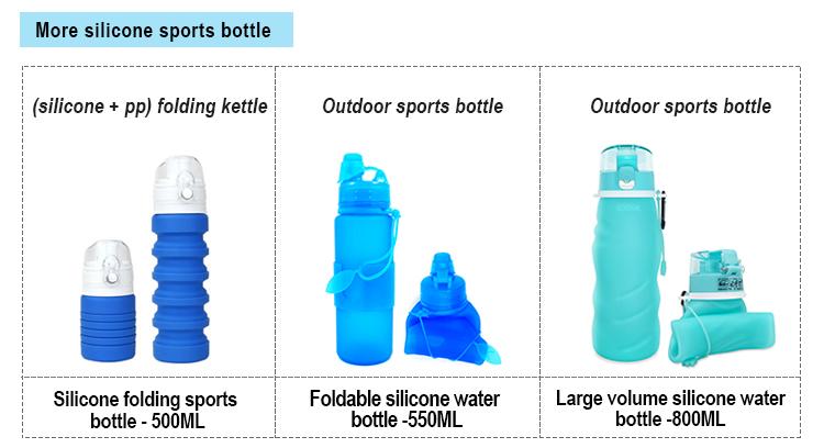 Cunite Heißer Verkauf Neue Artikel 2018 Sport Flasche Faltbare Trinken Flasche Wasser Flaschen Klapp Sport Wasser Flasche Mit Custom Logo