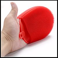 Mehrzweck-Küchenreinigungs-Silikon-Spülschwamm und hitzebeständiger Halter