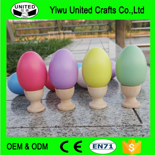 2017 Hot Selling Children's Educational Wooden Toys Eggs