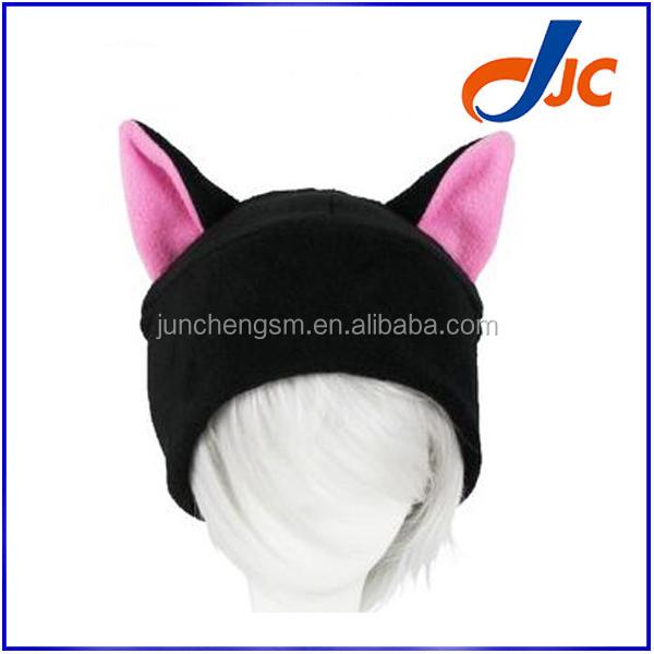 Moda negro del gato del oído del sombrero del Invierno Polar fleece ...