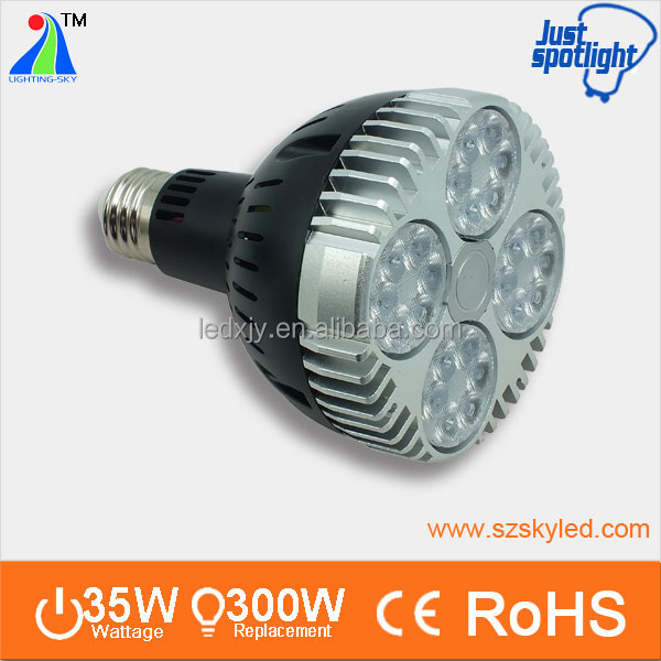 black housing 35w par led 24pcs 1-1.5w high power led par30 light