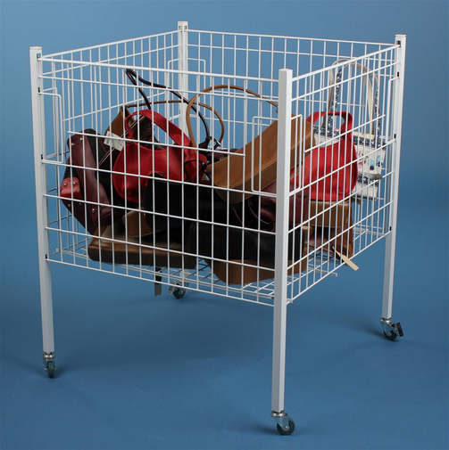metal wire container for handbag display rack