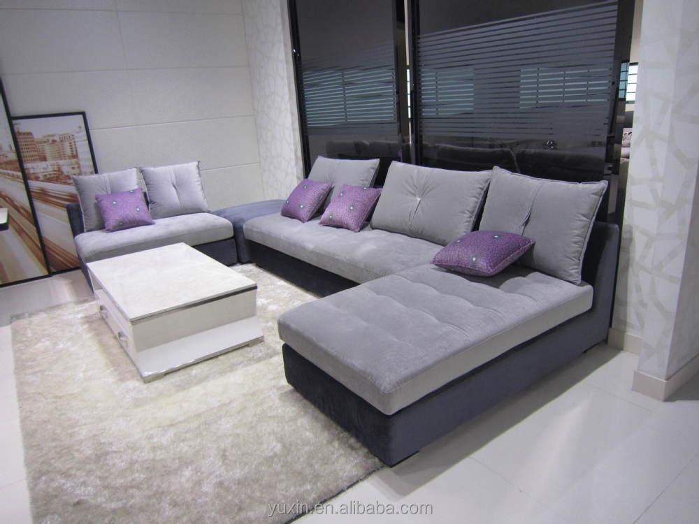 New Design Corner Fabric Sofa,L Shape Sectional Home Sofa Set ...