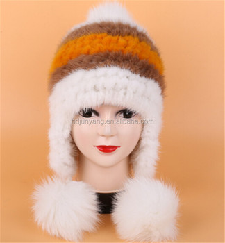 48c9e8ee82b73 China Wholesale Lady Hat Free Sex Girls With Animals Free Mink Fur Winter  Hat