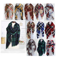 Lady Square Flannel Tartan stock Plaid Scarf