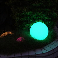 RGB LED outdoor waterproof decoration garden ball shape solar globe lights