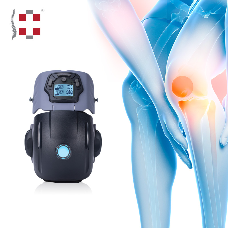 Electric air pressure heating leg and foot massager