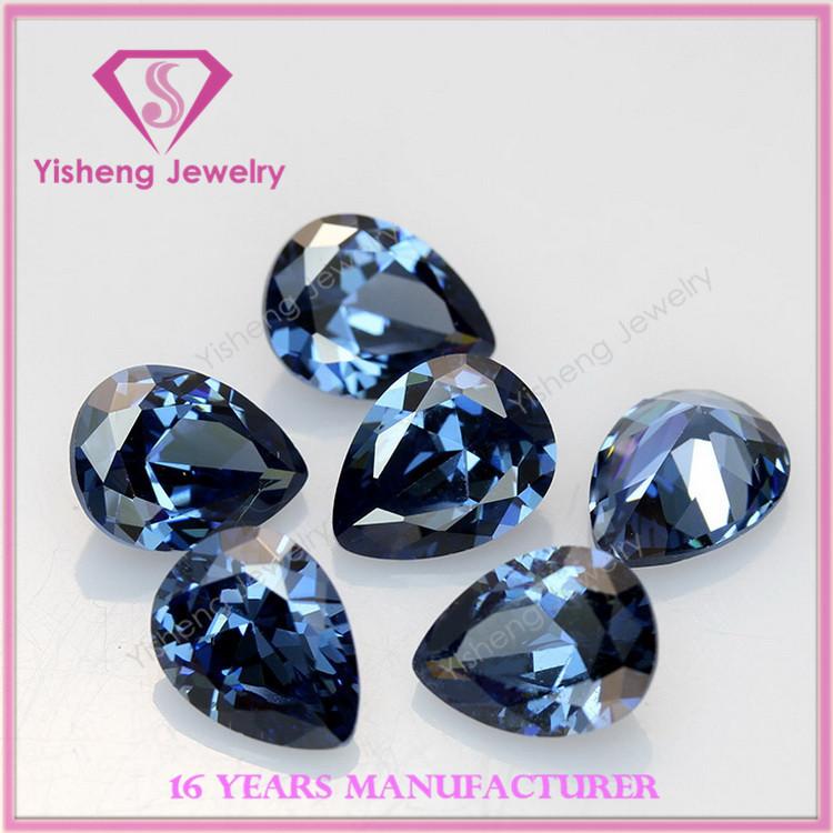 Pear Shape Blue Gemstone Names Nano Cz Stones Series Price - Buy ...