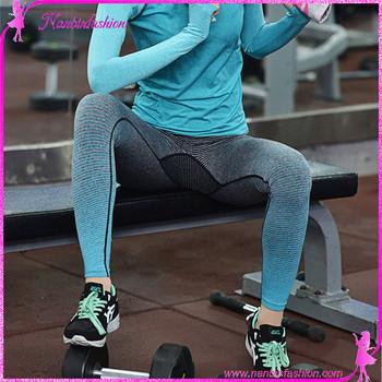 Hot sale exercise clothing seamless yoga sport pants gym wear womens bd16e0442d