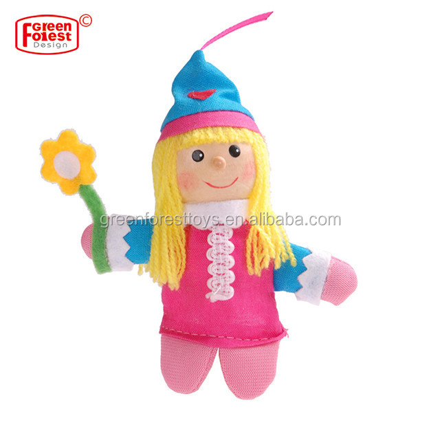 "Wholesale Educational Theater Play Wood Puppet Toys ""Mini Characters"" Finger Puppet"