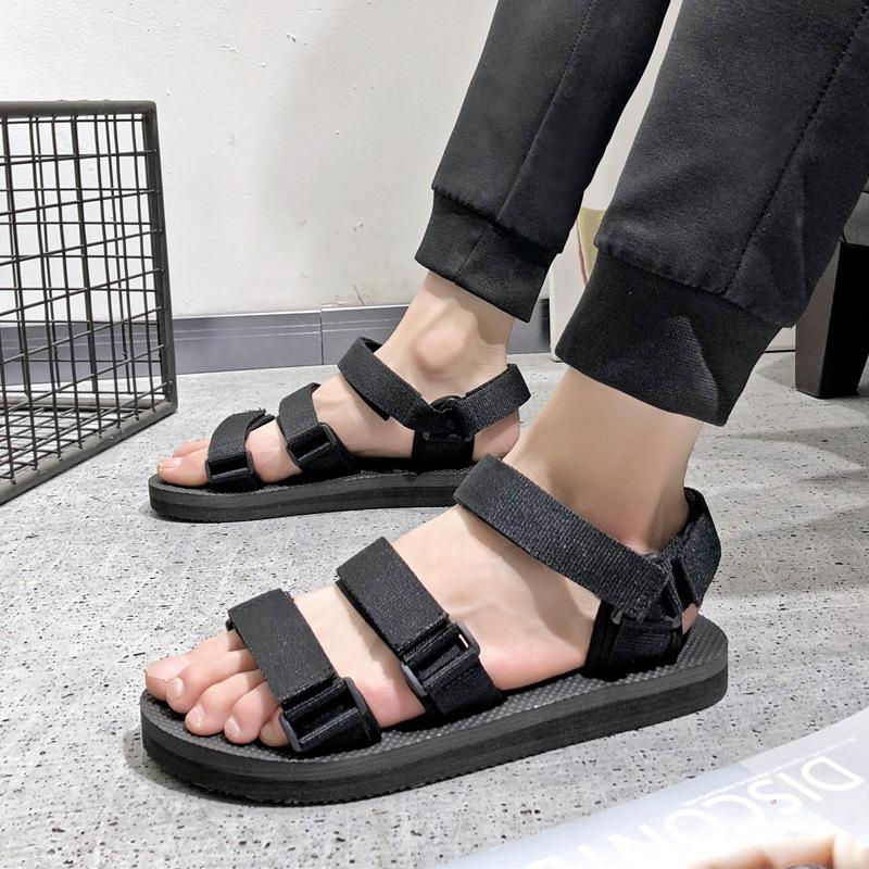 61443d965 Wholesale Summer Men s Ribbon Slippers Korean Outdoor Non-slip Beach Sandals