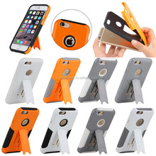 PC+ TPU combo cover for iphone 6, robot case for iphone 6 with stand