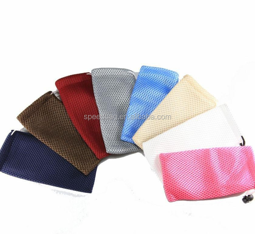 High quality fabric mesh jewelry bag drawstring bag gift bag pouch custom logo for gift jewelry bracelet packaging