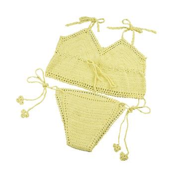 Exotic Fine Strappy Sexy Beach Bikini Bathing Suits Designs Hollow
