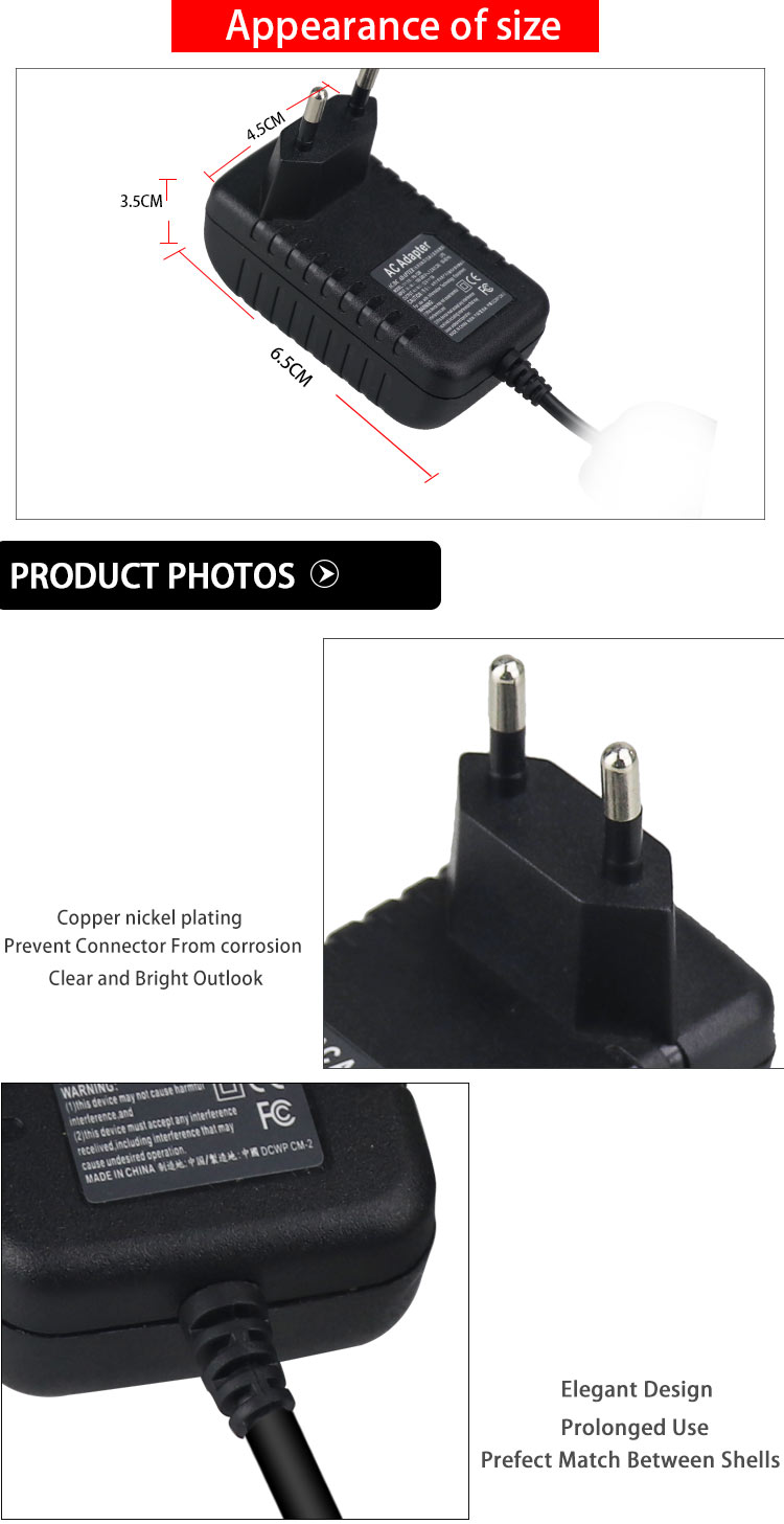 EU UK AU US KC JP Brazil Plug 5W 10W AC DC Wall Mount Adapter 5V 0.5A 1A 1.5A 2A 2.5A Power Adapter For LCD