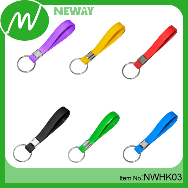 Promotional Rubber Silicone Bracelet Key Chain