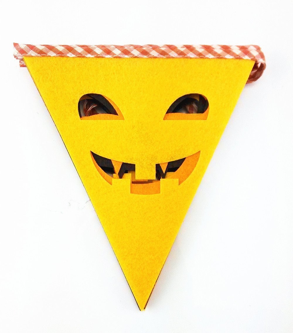 Buy yueton 9 Flag Felt Halloween Grimace Party Pennant Bunting ...